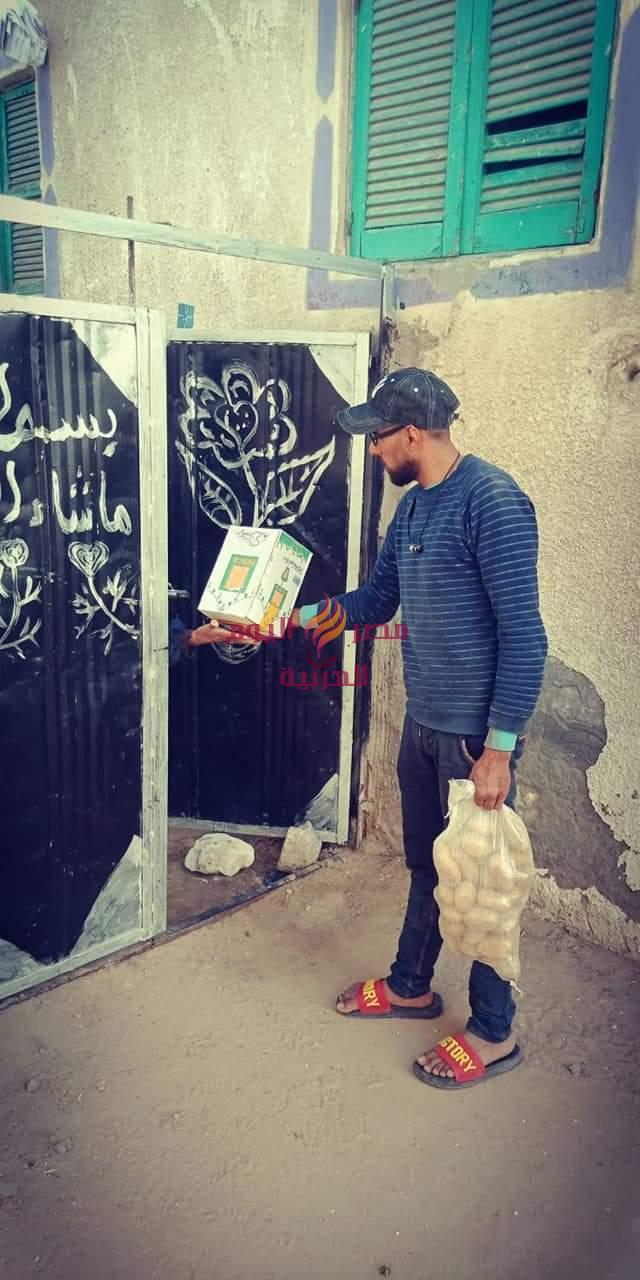 فى اطار مبادرة حياه كريمة توزيع 1500 كرتونة مواد غذائية و 1000 شيكارة بطاطس على الأسر الأولى بالرعاية بحوش عيس