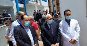 محافظ بورسعيد يتفقد مستشفي النصر التخصصي لمتابعة تقديم لقاح كورونا للمواطنين، | محافظ