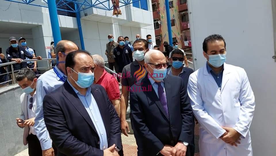 محافظ بورسعيد يتفقد مستشفي النصر التخصصي لمتابعة تقديم لقاح كورونا للمواطنين،   محافظ