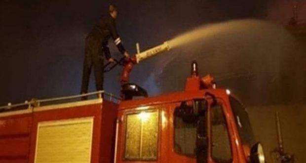 الحماية المدنية بالجيزة .. تسيطر على حريق هائل بإحدى الشركات فى المهندسين.   حريق
