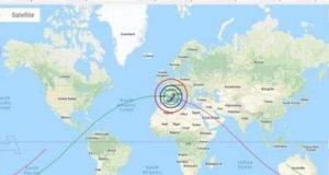الفلك الدولى .. يكشف عن الدول العربية المعرضة لخطر سقوط حطام الصاروخ الصينى. | الفلك