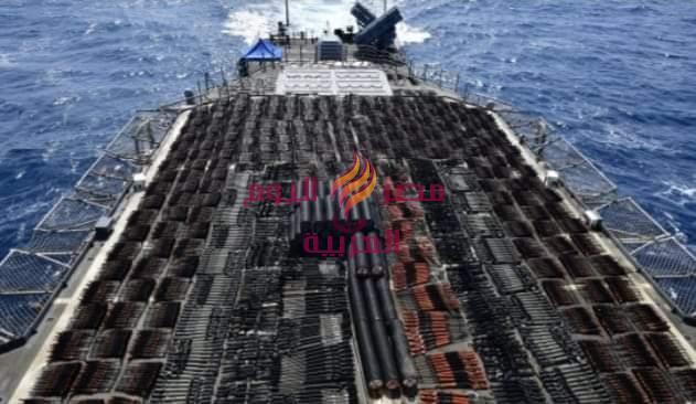 البحرية الأمريكية.. تتمكن من ضبط شحنة أسلحة إيرانية فى بحر العرب. | أسلحة