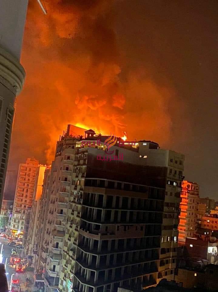 عاجل.......حريق هائل بفندق بانوراما بطنطا   حريق