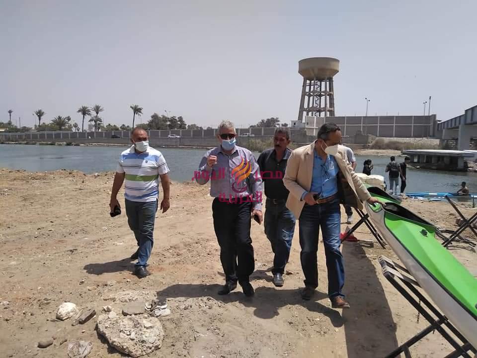 بالصور الاستعدادات النهائية لاستقبال بطولة الجمهورية الصيفية للكانوى والكياك ببورسعيد | بالصور