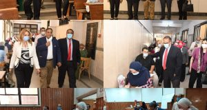 نائب رئيس جامعة عين شمس فى جولة تفقدية بآداب عين شمس فى اليوم الأول لامتحانات الفصل الدراسى الثاني بالكلية   نائب