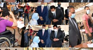 وزير التعليم العالى في جولة تفقدية للامتحانات بجامعة عين شمس بمشاركة رئيس الجامعة والنواب