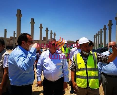 وزير الأعمال يتفقد مراحل أنشاء أكبر مصنع للغزل بالمحلة الكبرى | وزير