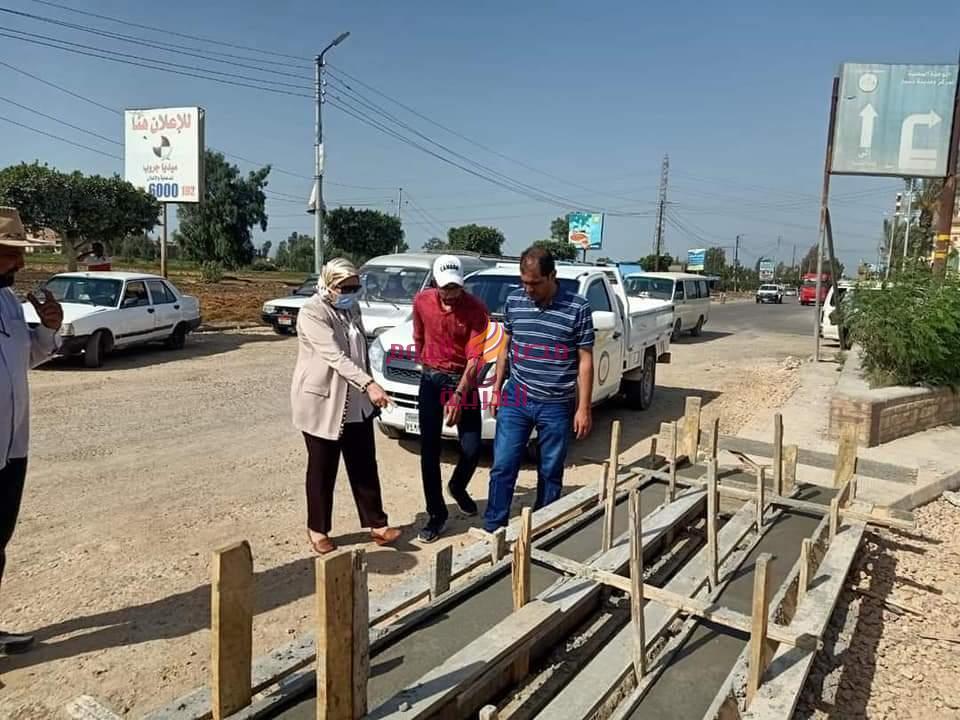 ماضى .. تتفقد بدء انشاء رصيف بمدخل مدينة دسوق ( طريق الصالحية) بمشاركة المجتمع المدني | ماضى