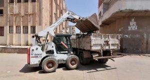 رئيس مركز ومدينة فوه يتابع أعمال النظافة بالمدينة والقرى | رئيس