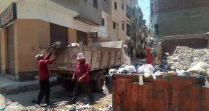 احياء دسوق تكثف جهودها بجهاز النظافة ورفع مخلفات القمامة | احياء