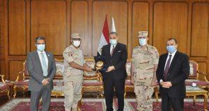 رئيس جامعة كفرالشيخ يكرم مدير إدارة التربية العسكرية ويرحب بالعقيد الكاش | رئيس
