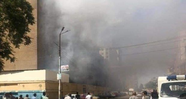 عاجــــــــــــل ...بالصور ... نشوب حريق بمستشفى سوهاج العام والحماية المدنية تحاول السيطرة عليه