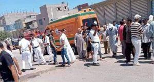 مصرع شخصين وإصابة 4 أخرين بحادث تصادم بكفر الشيخ