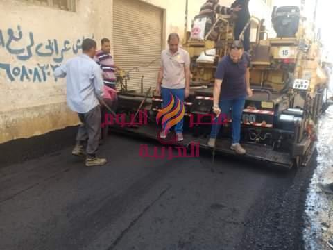الإنتهاء من رصف منطقة مسجد السودانيين بدسوق