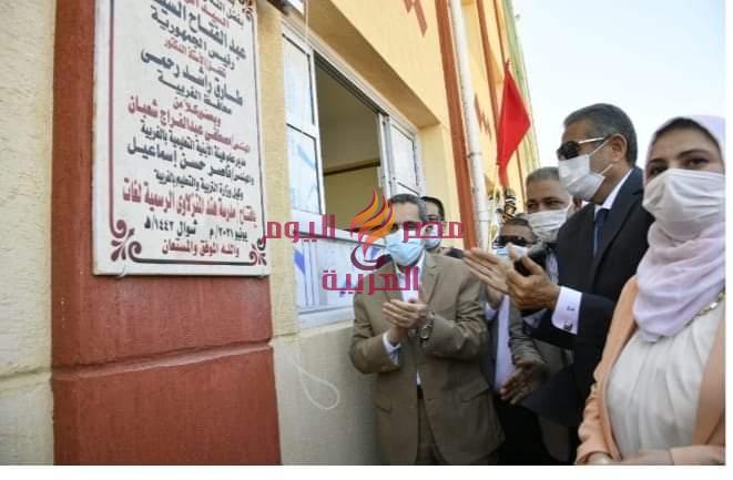 د.رحمي محافظ الغربيه يفتتح مدرسه جديده بسمنود