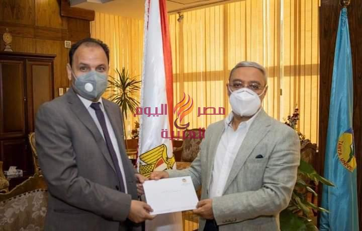 الدكتور: محمود زكى رئيس جامعة طنطا يجدد الثقة لمعن | رئيس جامعة طنطا يجدد الثقة