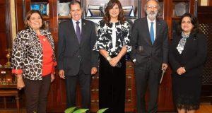 وزيرة الهجرة تستقبل وفدًا من لجنة الصحة بمجلس الشيوخ بعد مشاركتهم في آخر لقاء لمبادرة صوت مصر في إفريقيا | وزيرة