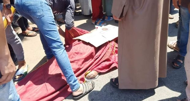 حادث سير امام قرية نقيطة بمحافظة الدقهلية ووفاة شخص   حادث