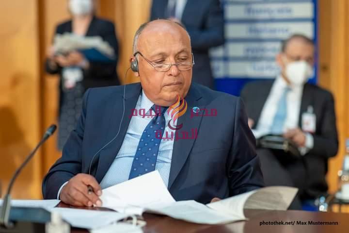 نص كلمة وزير الخارجية في مؤتمر برلين 2 حول ليبيا (23 يونيو 2021)