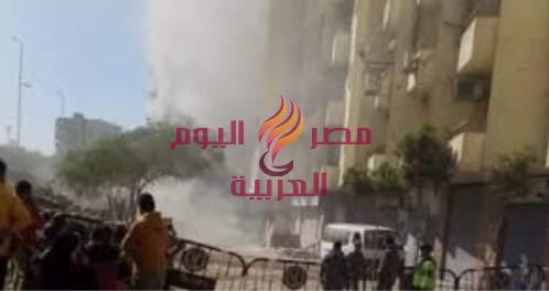 نشوب حريق منذ قليل فى إحدى العقارات بمدينة نصر