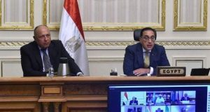 رئيس الوزراء يلقي كلمة حول جائحة كورونا نيابةً عن الرئيس عبد الفتاح السيسي أمام هيئة مكتب الإتحاد الأفريقي | رئيس الوزراء