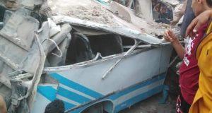 الصحة: وفاة 2 وإصابة 6 آخرين في حادث قطار حلوان   الصحة