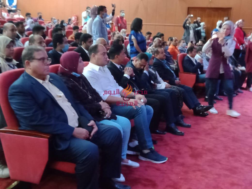 مؤتمر لجنة الشباب والرياضة بمجلس النواب مع شباب محافظة الدقهلية بجامعة المنصورة