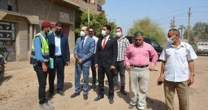 """نائب محافظ سوهاج يتفقد مشروعات """" حياة كريمة """" بنجع النجيلة """" بجرجا"""