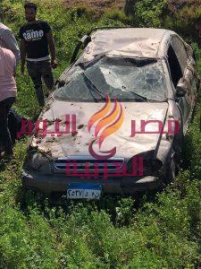 عاجل حادث بالمنيا علي طريق «البرجاية»   عاجل حادث بالمنيا