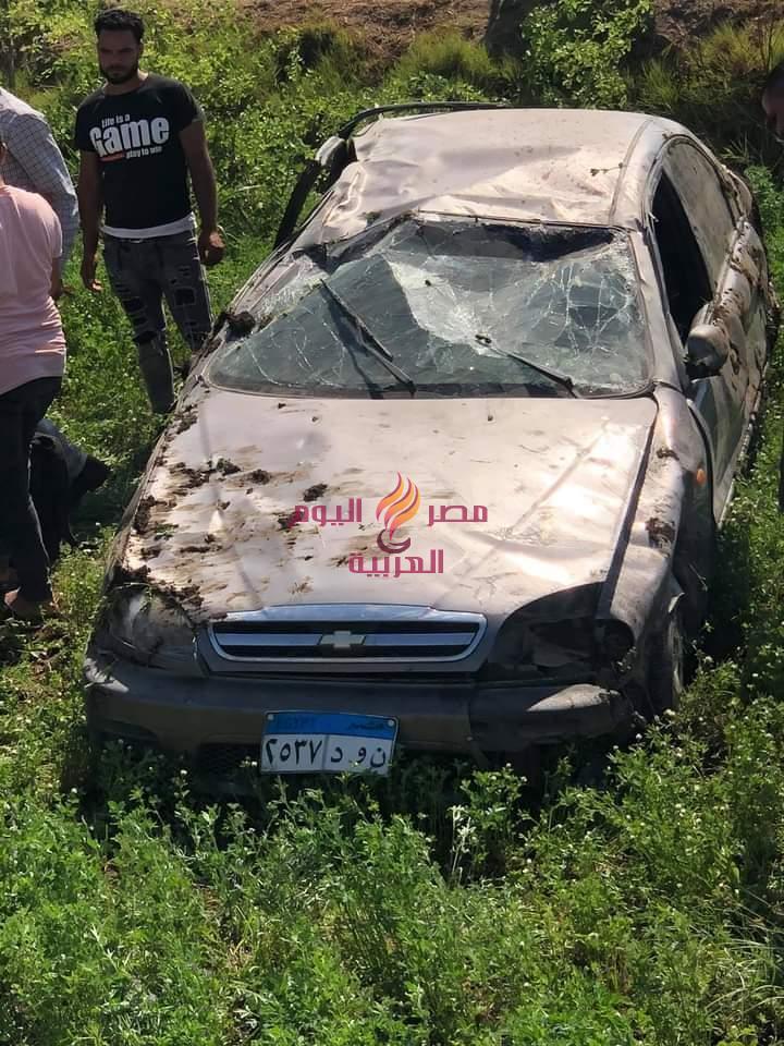 عاجل حادث بالمنيا علي طريق «البرجاية» | عاجل حادث بالمنيا