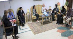 اللواء خالد فودة محافظ جنوب سيناء يستقبل وفد من كاتدرائية السمائيين لتقديم التهنئة بمناسبة حلول عيد الأضحى | محافظ جنوب سيناء
