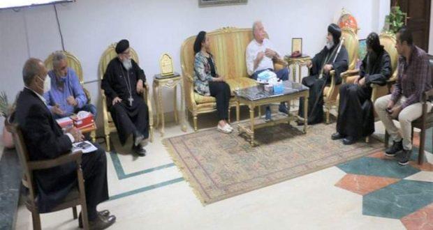 اللواء خالد فودة محافظ جنوب سيناء يستقبل وفد من كاتدرائية السمائيين لتقديم التهنئة بمناسبة حلول عيد الأضحى   محافظ جنوب سيناء