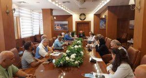 محافظ بورسعيد يستقبل مسؤولى شركة المقاولون العرب   محافظ بورسعيد