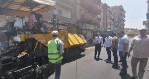بدء أعمال الرصف بشارع الفتح والجيش بفوه  