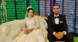 برقية تهنئة للحاج محمد حسن النجار بمناسبة حفل زفاف نجلة |
