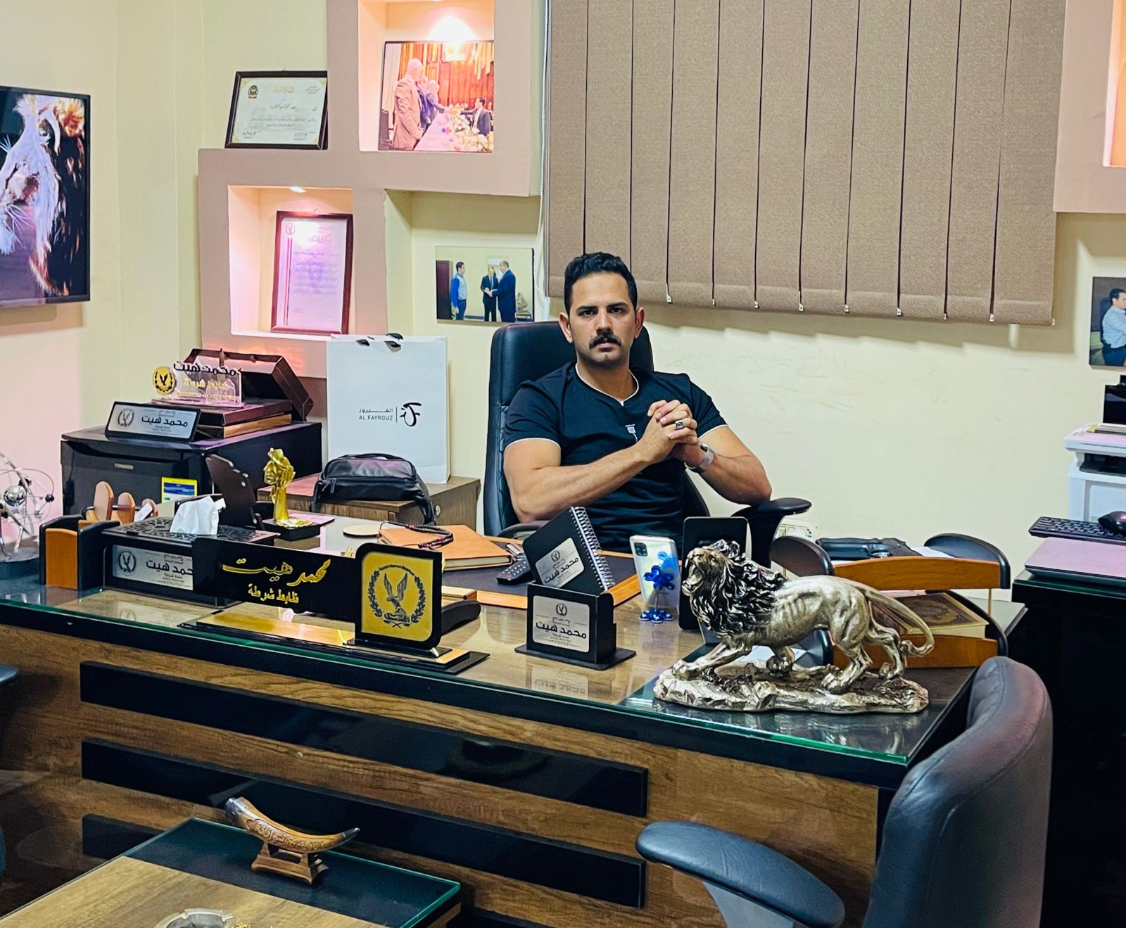 مصر اليوم العربية تقدم رسالة شكر الى الرائد محمد هيت   رسالة