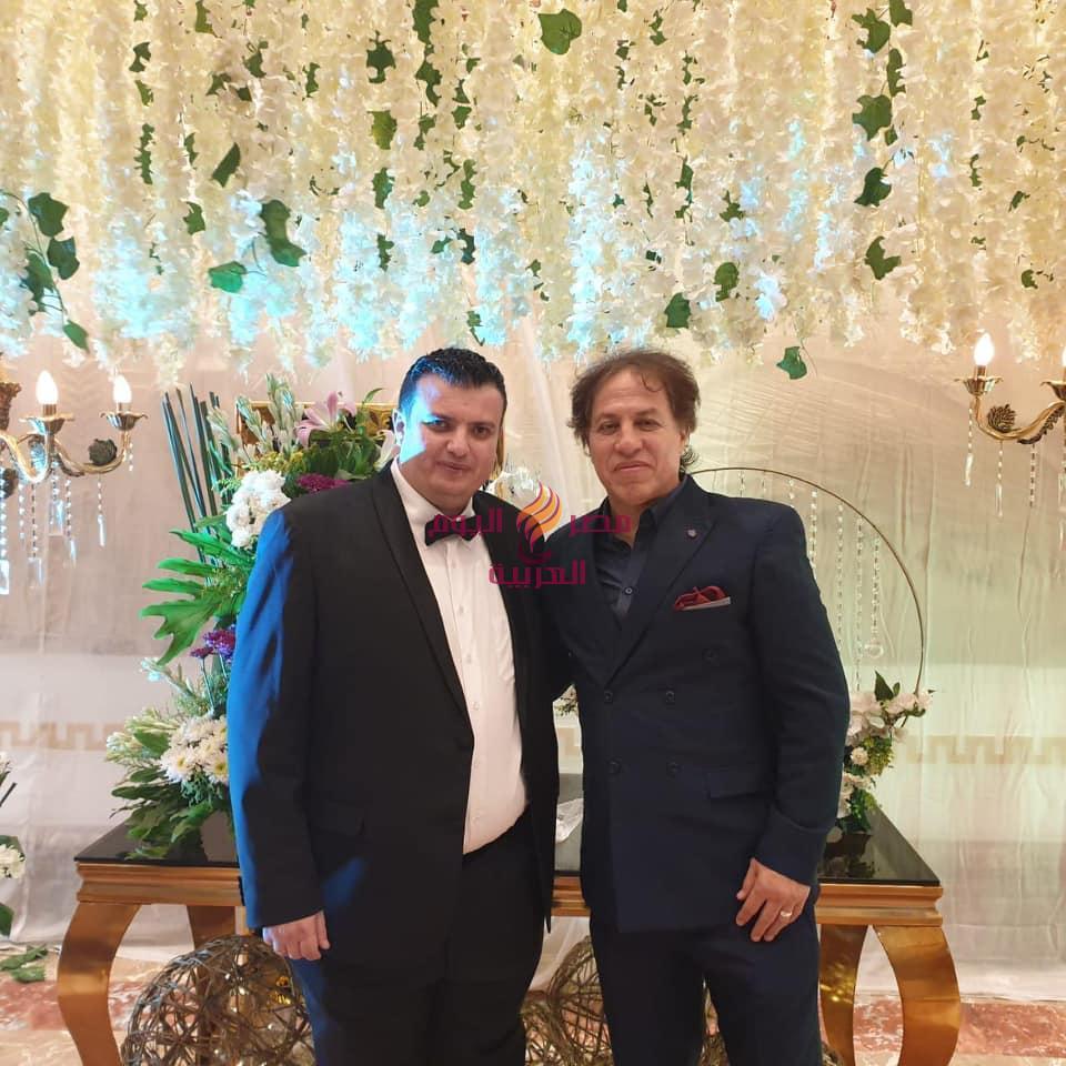 """نجوم الفن حماده هلال والليثي وأحمد سعد وعمر كمال يحتفلون بزفاف """"مصطفي وعائشه""""   هلال"""