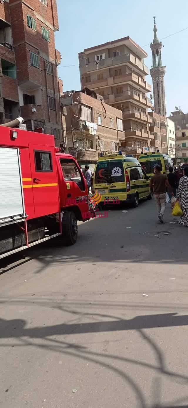 إصابة أربعة أشخاص وانهيار منزل نتيجة انفجار أسطوانة بوتاجاز