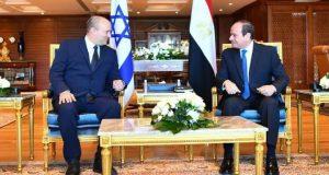 مباحثات ثنائية بين الرئيس عبد الفتاح السيسي ورئيس الوزراء الإسرائيلي بمدينة شرم الشيخ |