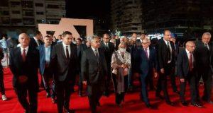 محافظ بورسعيد يفتتح ساحة مصر بمدخل قناة السويس. |