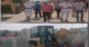 إزالة 65 حالة تعدي بمساحة 12500 متر مربع بمركز ومدينة الإسماعيلية  