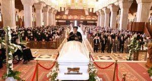 البابا تواضروس يرأس صلاة تجنيز الأنبا هدرا بالكاتدرائية