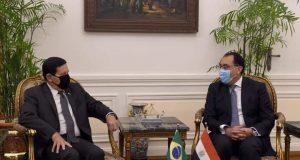رئيس الوزراء يلتقي نائب الرئيس البرازيلي بالقاهرة |