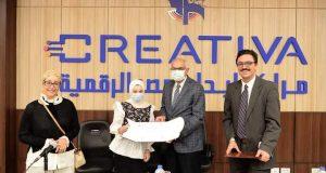 زيارة تفقدية لرئيس جامعة المنصورة لمركز إبداع مصر الرقمي |