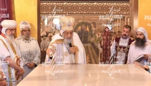 البابا تواضروس يدشن كنيسة العذراء بمدينة العاشر من رمضان