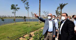 جولة رئيس الوزراء بمنطقة مصر القديمة بتفقد مشروع تطوير بحيرة عين الصيرة تمهيدا لاستقبال الزائرين