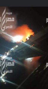 عاجل حريق ضخم بمنطقة نمرة ٣ بالإسماعيلية  