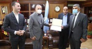 محافظ كفرالشيخ يكرم« المحمدى» لتوليه منصبه الجديد